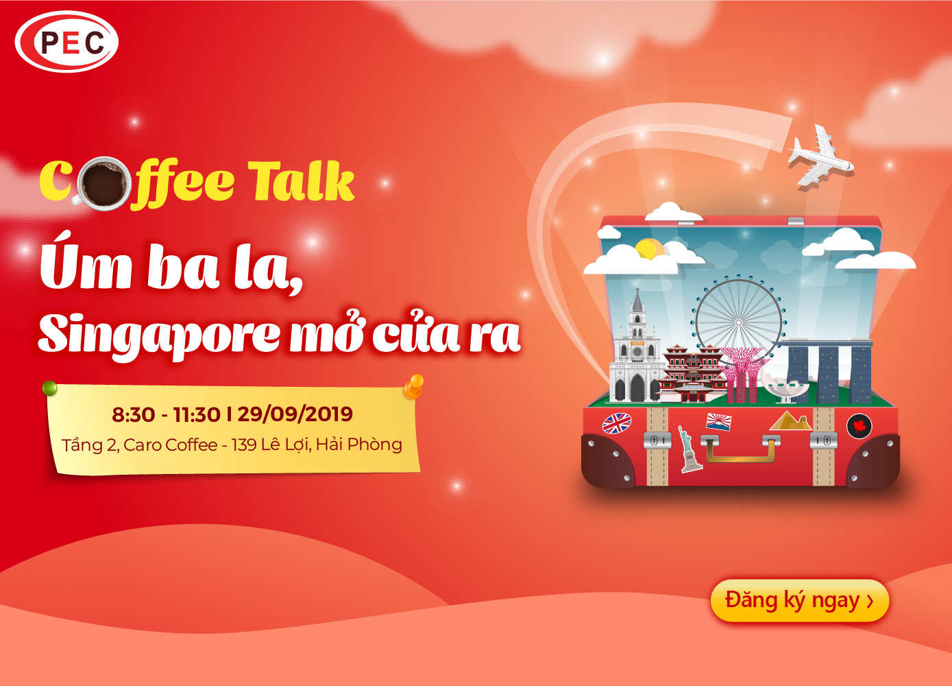"COFFEE TALK ""ÚM BA LA - SINGAPORE MỞ RA"""